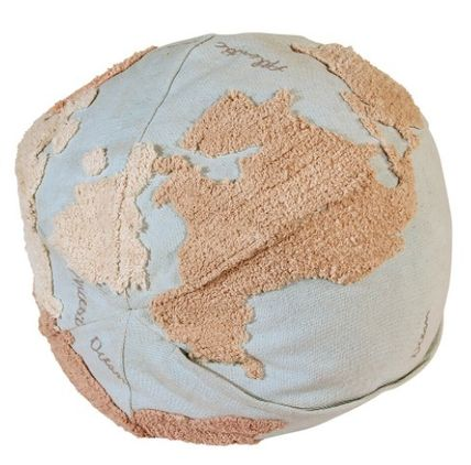 Lorena Canals クッション・クッションカバー 在庫少 関送込 LORENA CANALS World Map Pouf クッション(4)
