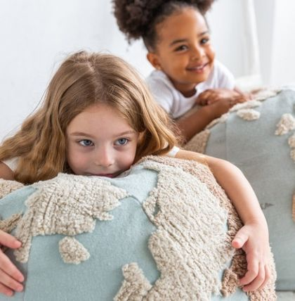 Lorena Canals クッション・クッションカバー 在庫少 関送込 LORENA CANALS World Map Pouf クッション(6)