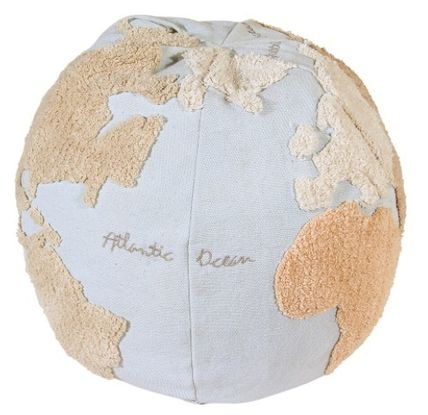 Lorena Canals クッション・クッションカバー 在庫少 関送込 LORENA CANALS World Map Pouf クッション(7)
