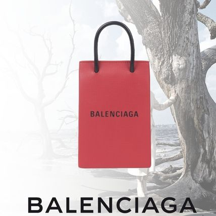 新作 BALENCIAGA■SHOPPING PHONE HOLDER■