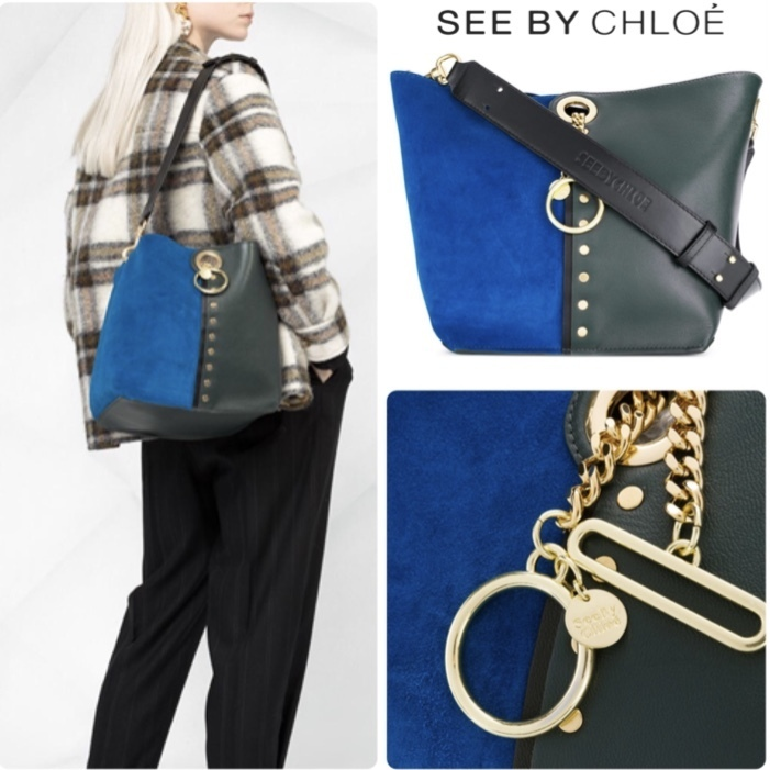 SEE BY CHLOE ガイア/Gaia スエード&レザーコンビ トートバッグ (See by Chloe/トートバッグ) 64630766