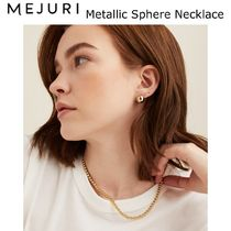 【Mejuri】ゴールドネックレス Metallic Sphere Necklace