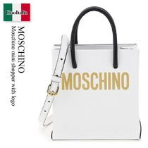 Moschino mini shopper with logo