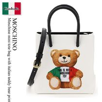 Moschino mini tote bag with italian teddy bear print