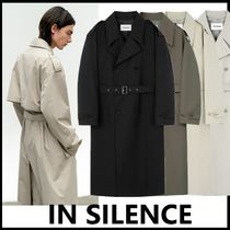 ★IN SILENCE★韓国人気★2021SS★OVERSIZE TRENCH COAT [4色]