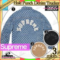 20SS /Supreme Hole Punch Denim Trucker Jacket デニム JK