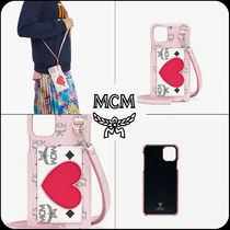 [MCM]★VISETOS LEATHER MIX VALENTINE iPhone11ProMax Case