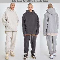 [ATTENTIONROW] Solid Curve Tunnel Overfit Hoodie Setup