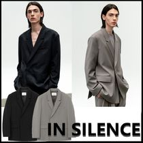 ★IN SILENCE★韓国人気★2021SS★HIDDEN BUTTON WOOL BLAZER