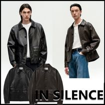 ★IN SILENCE★韓国人気★2021SS★LEATHER BLOUSIN【2色】