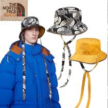 GUCCITheNorthFaceコラボ★ロゴセルフタイナイロンハット