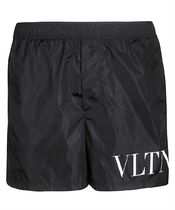 Valentino RV3UH028DMA Swim shorts - Blue VLTN ロゴ パンツ