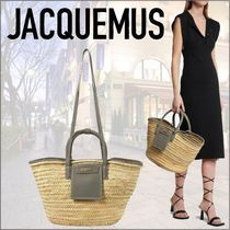 21SS新作ロゴ★Jacquemus★Le PanierSoleil ラフィアトート