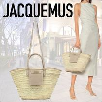 21SS新作ロゴ★Jacquemus★Le PanierSoleil ストロートート