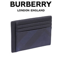 BURBERRY マネークリップ カードケース 8024773-A1960_NAVY