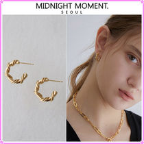 【MIDNIGHT MOMENT.】hoop rope earring〜ピアス