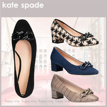 kate spade◆チェーン付ブロックヒール パンプス◆SALE