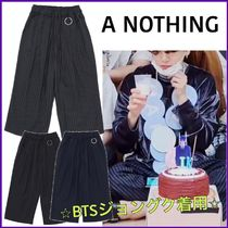 BTSジョングク愛用【A NOTHING】STRIPE OR PLAIN WIDE PANTS/3色