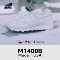New Balance 1400 Made in USA Triple White Leather M1400B
