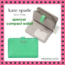 KATE SPADE*spencer compact wallet in Green Jay 二つ折財布