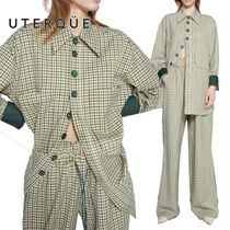 Uterque(ウテルケ) セットアップ 【Uterque】CHECK OVER SHIRT+CHECK TROUSERS