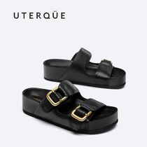 【Uterque】BIO LEATHER SANDAL WITH BUCKLES