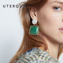 【Uterque】AGATE AND SWEET PEARL EARRING