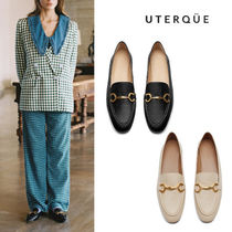 【Uterque】LINK LEATHER LOAFERS