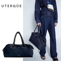 【Uterque】NYLON BAG WITH ROPE HANDLES
