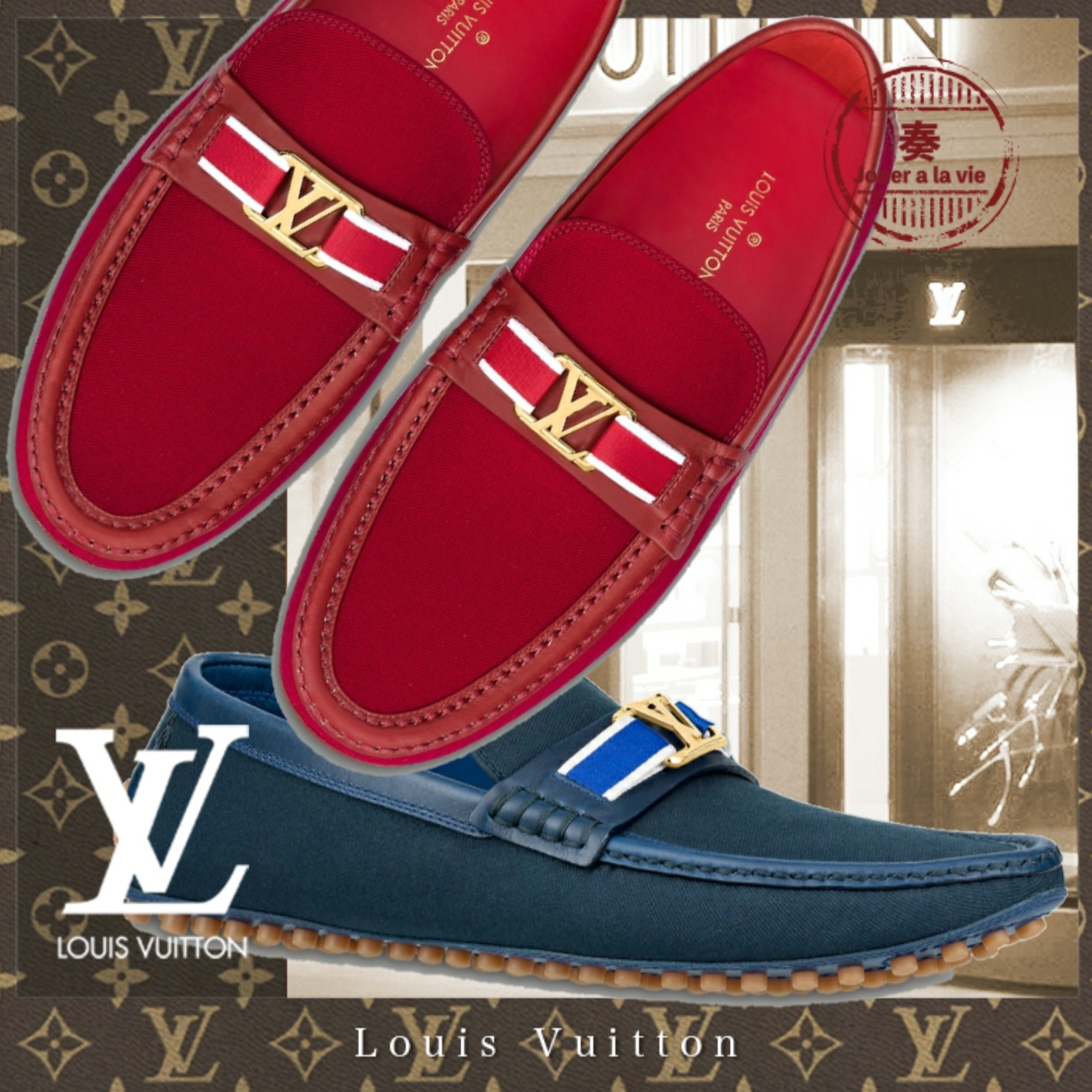 21SS直営買付 Louis Vuitton ホッケンハイム・ライン ローファー (Louis Vuitton/ドレスシューズ・革靴・ビジネスシューズ) 1A8ISS / 1A8ISU : 1A8IUO / 1A8IUQ  1A8ISW / 1A8ISY : 1A8IUS / 1A8IUU  1A8IT0 / 1A8IT2 : 1A8IUW / 1A8IUY