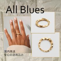All Blues(オールブルース) 指輪・リング All Blues エマ愛用 スネークリングthin Carved GOLD
