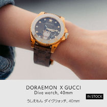 GUCCI x  Draemon うしえもん Dive watch 40mm