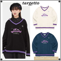 TARGETTO SEOULのDOUBLE CABLE V NECK KNIT 全3色