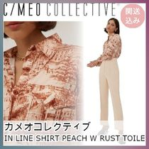 ★C/MEO COLLECTIVE★IN LINE SHIRT PEACH W RUST TOILE★関送込