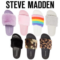 Steve Madden■Softey Faux Fur Slide ファースライド サンダル