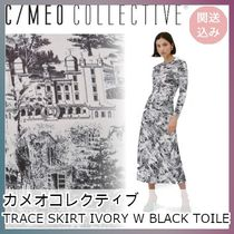 ★C/MEO COLLECTIVE★TRACE SKIRT IVORY W BLACK TOILE ★関送込