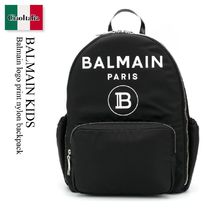 Balmain Kids Balmain logo print nylon backpack