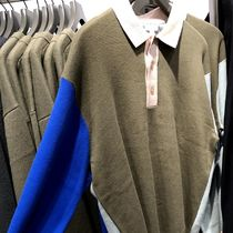 """COS(コス) ポロシャツ """"COS MEN"""" KNITTED LONG-SLEEVE POLO SHIRT MULTICOLOR"""