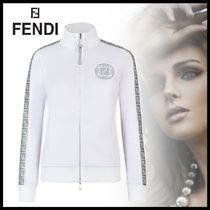 直営店【FENDI】White jersey sweatshirt