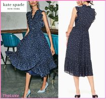 ★SALE★【kate spade】out west wild rose ruffle wrap dress