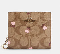 COACH◇Snap Wallet with Heart Floral Print C2867