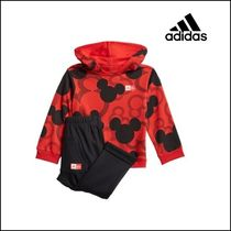 adidas 乳幼児 レッド Mickey Mouse パーカー &ジョガーセット♪