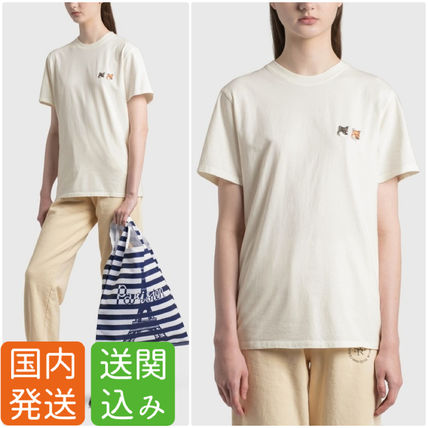 送関込み★MAISON KITSUNE★DOUBLE FOX HEAD 半袖Tシャツ