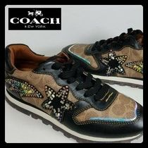【Coach】SALE!! C118 Runner with Signature Canvas♪