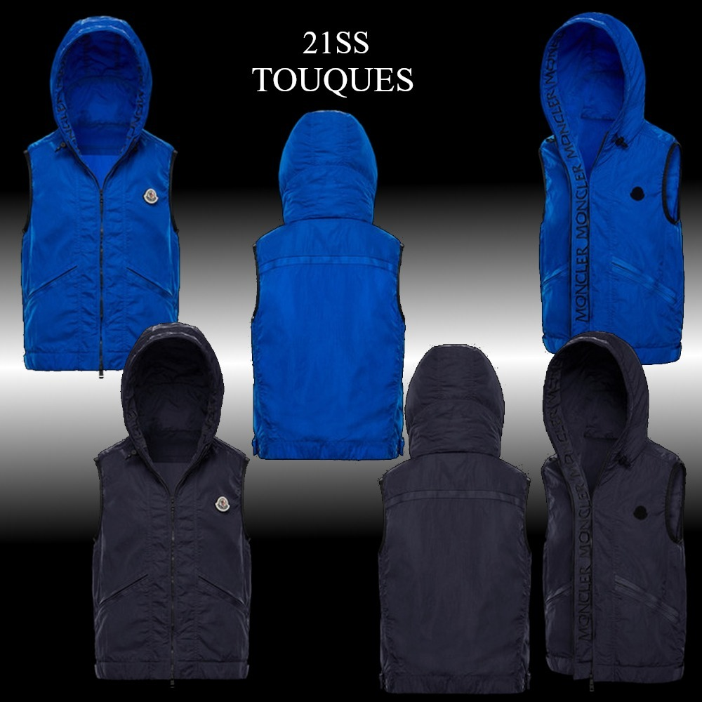 21SS★新作★MONCLER★TOUQUES ナイロンベスト (MONCLER/ベスト・ジレ) 0911A721605370573L  0911A7216053705743