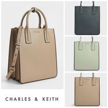 ★CHARLES&KEITH★Double Handle Tote Bag/送料込