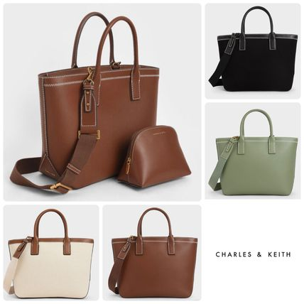 ★CHARLES&KEITH★ Double Handle Tote Bag トートバッグ/送料込