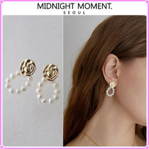 【MIDNIGHT MOMENT.】crumple round pearl earring〜ピアス