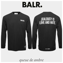 BALR(ボーラー) Tシャツ・カットソー BALR.★ LOVE AND HATE STRAIGHT ロゴ ロンT★関税・送料込