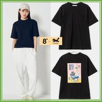 8×AE SHOONG コラボ*Black pocket back printed Tシャツ 6Size